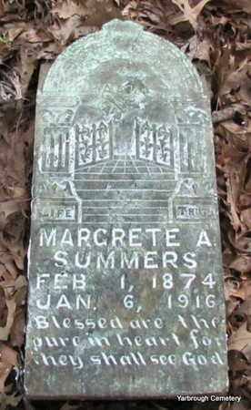 CATHEY SUMMERS, MARGRETE A - St. Francis County, Arkansas | MARGRETE A CATHEY SUMMERS - Arkansas Gravestone Photos