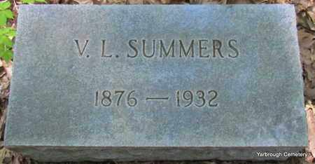 SUMMERS, V L - St. Francis County, Arkansas | V L SUMMERS - Arkansas Gravestone Photos