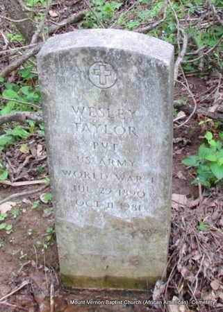 TAYLOR (VETERAN WWI), WESLEY - St. Francis County, Arkansas   WESLEY TAYLOR (VETERAN WWI) - Arkansas Gravestone Photos
