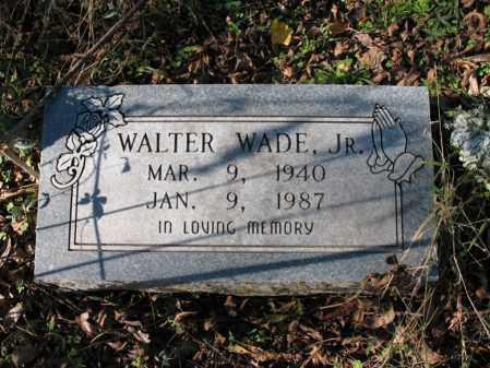 WADE, JR., WALTER - St. Francis County, Arkansas   WALTER WADE, JR. - Arkansas Gravestone Photos