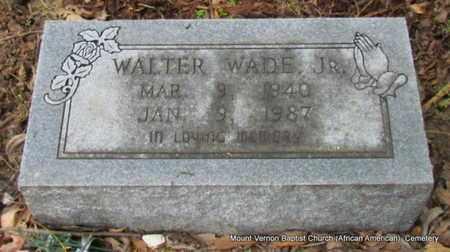 WADE, JR, WALTER - St. Francis County, Arkansas | WALTER WADE, JR - Arkansas Gravestone Photos