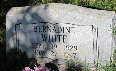 WHITE, BERNADINE - St. Francis County, Arkansas   BERNADINE WHITE - Arkansas Gravestone Photos