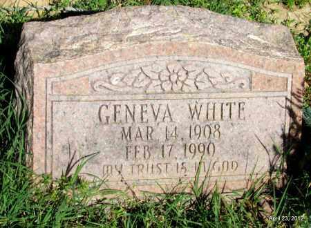 WHITE, GENEVA - St. Francis County, Arkansas | GENEVA WHITE - Arkansas Gravestone Photos
