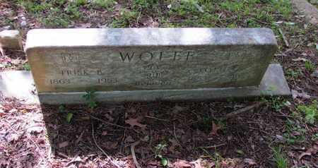 WOLFE, FRISK B - St. Francis County, Arkansas | FRISK B WOLFE - Arkansas Gravestone Photos