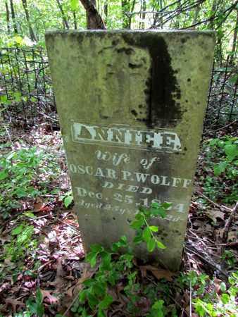 WOLFF, ANNIE E. - St. Francis County, Arkansas | ANNIE E. WOLFF - Arkansas Gravestone Photos