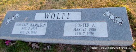 WOLFF, JOHNNIE - St. Francis County, Arkansas | JOHNNIE WOLFF - Arkansas Gravestone Photos
