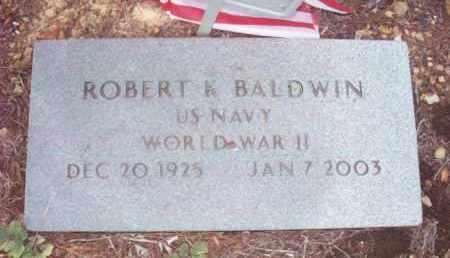 BALDWIN (VETERAN WWII), ROBERT K - Stone County, Arkansas | ROBERT K BALDWIN (VETERAN WWII) - Arkansas Gravestone Photos
