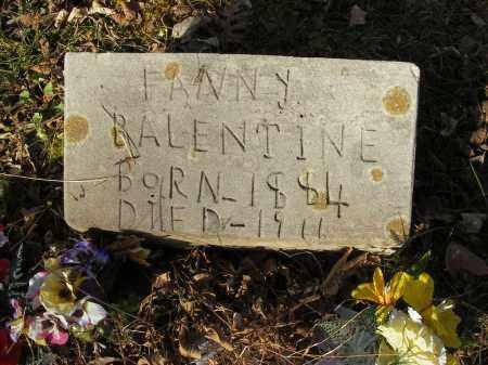BALENTINE, FANNY - Stone County, Arkansas   FANNY BALENTINE - Arkansas Gravestone Photos