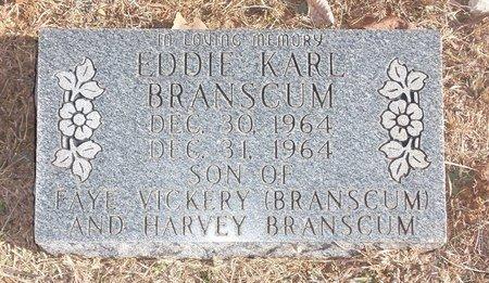 BRANSCUM, EDDIE KARL - Stone County, Arkansas   EDDIE KARL BRANSCUM - Arkansas Gravestone Photos