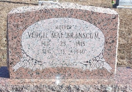 PINKSTON BRANSCUM, VERGIE MAE - Stone County, Arkansas | VERGIE MAE PINKSTON BRANSCUM - Arkansas Gravestone Photos