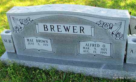 BREWER, ALFRED O - Stone County, Arkansas | ALFRED O BREWER - Arkansas Gravestone Photos
