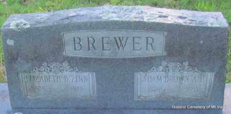 BREWER, ELIZABETH B - Stone County, Arkansas | ELIZABETH B BREWER - Arkansas Gravestone Photos