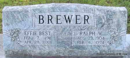 BREWER, EFFIE - Stone County, Arkansas | EFFIE BREWER - Arkansas Gravestone Photos