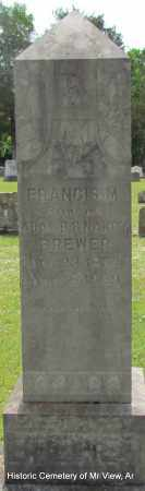 BREWER, FRANCIS M - Stone County, Arkansas   FRANCIS M BREWER - Arkansas Gravestone Photos