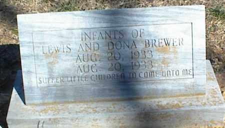 BREWER, INFANTS - Stone County, Arkansas | INFANTS BREWER - Arkansas Gravestone Photos