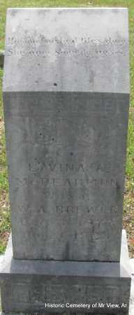 BREWER, LAVINA A - Stone County, Arkansas | LAVINA A BREWER - Arkansas Gravestone Photos