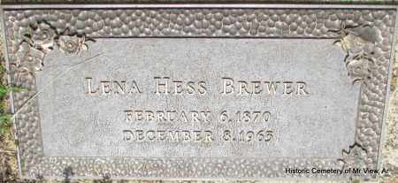 BREWER, LENA - Stone County, Arkansas | LENA BREWER - Arkansas Gravestone Photos
