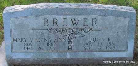 BREWER, MARY VIRGINA - Stone County, Arkansas | MARY VIRGINA BREWER - Arkansas Gravestone Photos