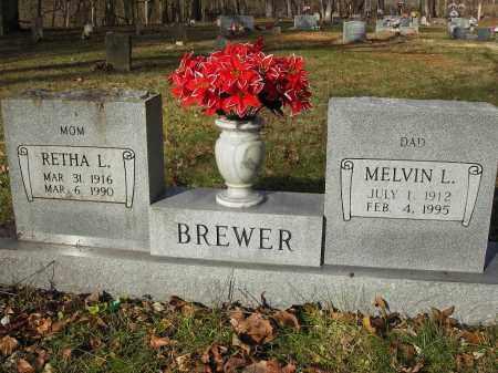 BREWER, RETHA L - Stone County, Arkansas | RETHA L BREWER - Arkansas Gravestone Photos
