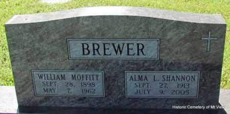 BREWER, WILLIAM MOFFITT - Stone County, Arkansas | WILLIAM MOFFITT BREWER - Arkansas Gravestone Photos