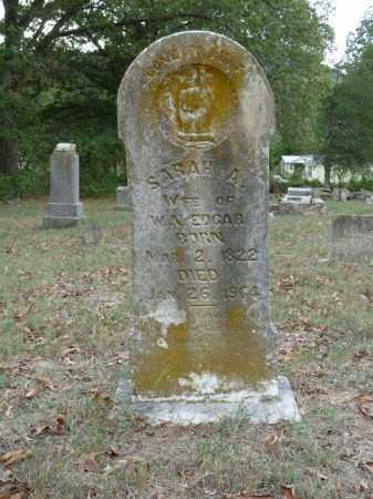 EDGAR, SARAH A. - Stone County, Arkansas   SARAH A. EDGAR - Arkansas Gravestone Photos