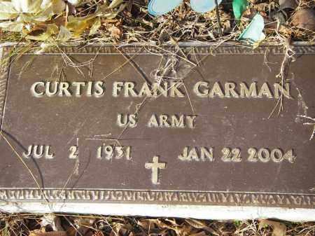 GARMAN (VETERAN), CURTIS FRANK - Stone County, Arkansas | CURTIS FRANK GARMAN (VETERAN) - Arkansas Gravestone Photos