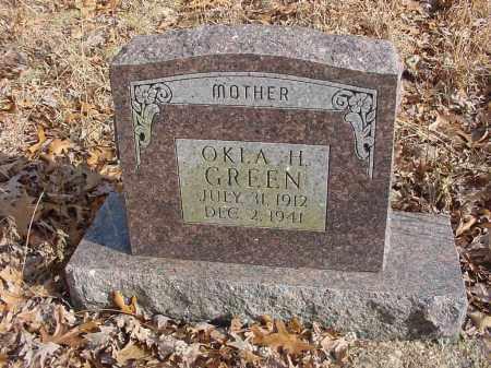 GREEN, OKLA H - Stone County, Arkansas | OKLA H GREEN - Arkansas Gravestone Photos