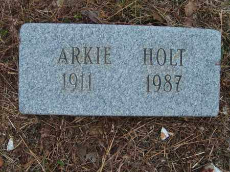 HOLT, ARKIE - Stone County, Arkansas | ARKIE HOLT - Arkansas Gravestone Photos
