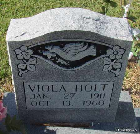 HOLT, VIOLA (CLOSE UP) - Stone County, Arkansas | VIOLA (CLOSE UP) HOLT - Arkansas Gravestone Photos