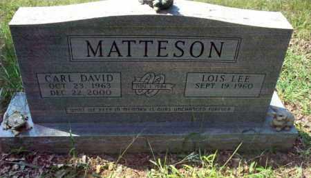 MATTESON, CARL DAVID - Stone County, Arkansas | CARL DAVID MATTESON - Arkansas Gravestone Photos