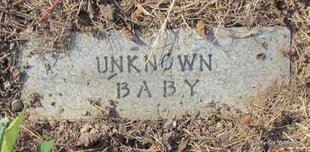 UNKNOWN, BABY - Stone County, Arkansas   BABY UNKNOWN - Arkansas Gravestone Photos