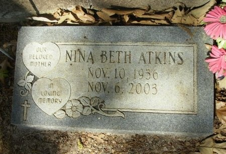 ATKINS, NINA BETH - Union County, Arkansas | NINA BETH ATKINS - Arkansas Gravestone Photos