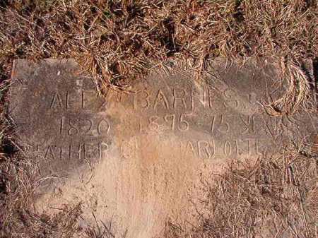 BARNES, ALEX - Union County, Arkansas | ALEX BARNES - Arkansas Gravestone Photos