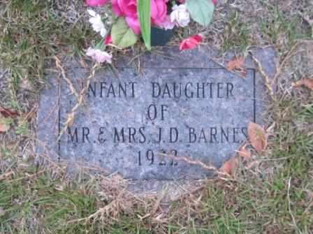BARNES, INFANT DAUGHTER - Union County, Arkansas | INFANT DAUGHTER BARNES - Arkansas Gravestone Photos