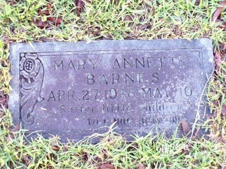 BARNES, MARY ANNETTE - Union County, Arkansas   MARY ANNETTE BARNES - Arkansas Gravestone Photos