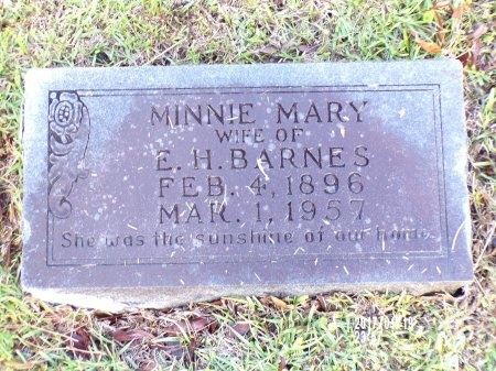 BARNES, MINNIE MARY - Union County, Arkansas   MINNIE MARY BARNES - Arkansas Gravestone Photos