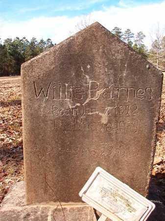 BARNES, WILLIE - Union County, Arkansas   WILLIE BARNES - Arkansas Gravestone Photos