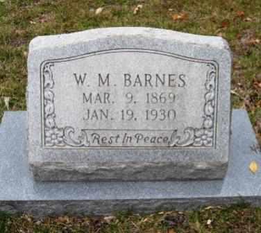 BARNES, W M - Union County, Arkansas | W M BARNES - Arkansas Gravestone Photos