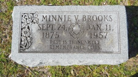BROOKS, MINNIE VIRGINIA - Union County, Arkansas | MINNIE VIRGINIA BROOKS - Arkansas Gravestone Photos