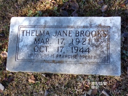 BROOKS, THELMA JANE - Union County, Arkansas | THELMA JANE BROOKS - Arkansas Gravestone Photos
