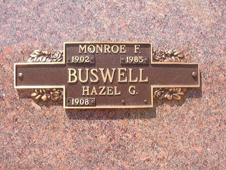 BUSWELL, MONROE F - Union County, Arkansas | MONROE F BUSWELL - Arkansas Gravestone Photos