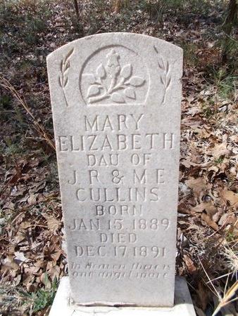 CULLINS, MARY ELIZABETH - Union County, Arkansas | MARY ELIZABETH CULLINS - Arkansas Gravestone Photos