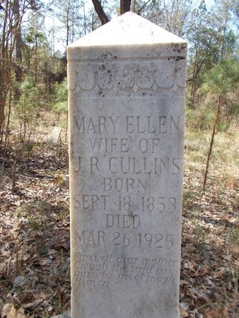 CULLINS, MARY ELLEN - Union County, Arkansas | MARY ELLEN CULLINS - Arkansas Gravestone Photos