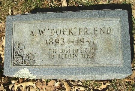 "FRIEND, ADOLPHUS WALTER ""DOC"" - Union County, Arkansas   ADOLPHUS WALTER ""DOC"" FRIEND - Arkansas Gravestone Photos"