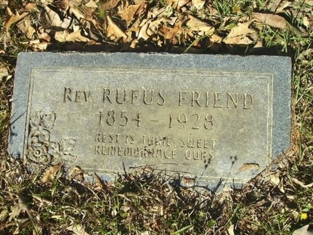 FRIEND, ANDREW RUFUS, REV - Union County, Arkansas | ANDREW RUFUS, REV FRIEND - Arkansas Gravestone Photos