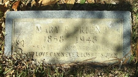 RIDENOUR FRIEND, MARY ELLA - Union County, Arkansas | MARY ELLA RIDENOUR FRIEND - Arkansas Gravestone Photos