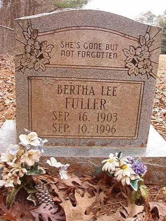 FULLER, BERTHA LEE - Union County, Arkansas | BERTHA LEE FULLER - Arkansas Gravestone Photos