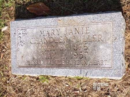CHANDLER FULLER, MARY JANIE - Union County, Arkansas | MARY JANIE CHANDLER FULLER - Arkansas Gravestone Photos