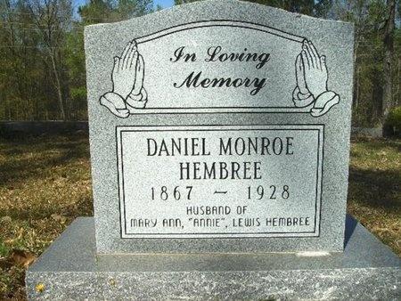 HEMBREE, DANIEL MONROE - Union County, Arkansas | DANIEL MONROE HEMBREE - Arkansas Gravestone Photos