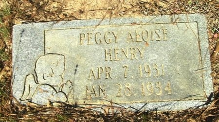 HENRY, PEGGY ALOISE - Union County, Arkansas | PEGGY ALOISE HENRY - Arkansas Gravestone Photos